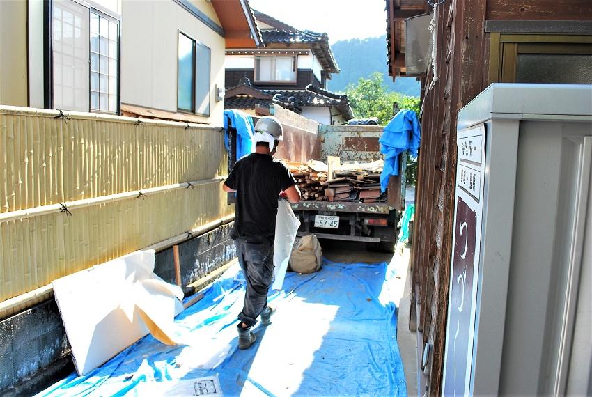 工事のはじまり 8月下旬(2)