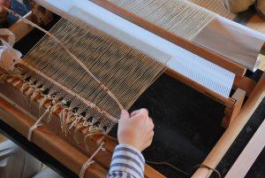 手織教室の風景