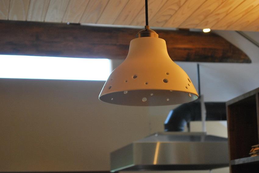 出石焼の照明器具
